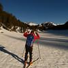 Bryce skis the lower canyon up toward Saddlebag Lake