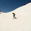 Jeff enjoys some Halfpipe skiing above Helen Lake