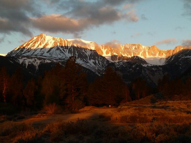 Sunrise on the Dana Plateau from Lee Vining Canyon