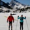 Rick and Mary ellen enjoying frozen Saddlebag Lake