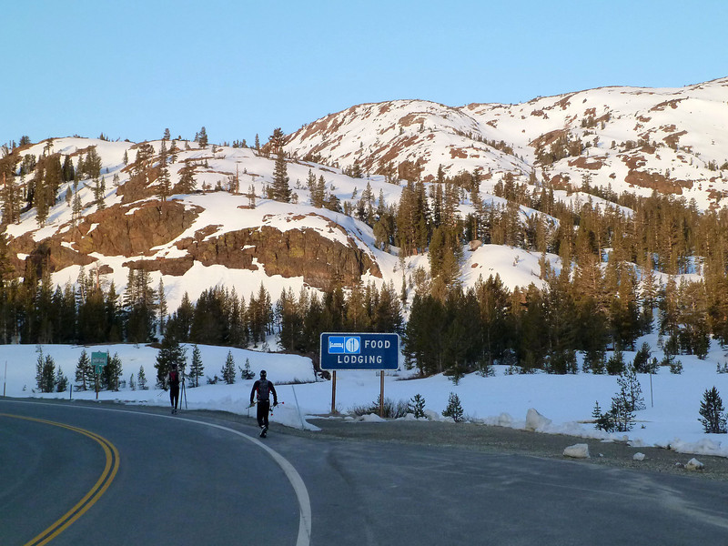 The Tioga Road at the Saddlebag Lake turnoff. Not too much problem plowing this section this year.