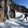 It's a really cool gully, with mini-waterfalls on the rocks and great snow.