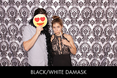 black-white damask ex
