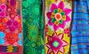 Mexican colorful serape traditional embroidery
