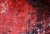 grunge red and black aged wall texture background