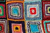Crochet patchwork colorful pattern handcraft