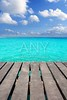 Caribbean wood pier with turquoise aqua sea