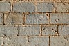 Castle masonry wall carved stone rows pattern texture