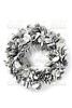 Christmas leaves ring gray silver