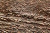 square roof tiles plain clay pattern weathered