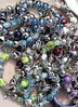 colorful jewelry mess in market background