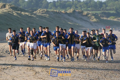 May 2007 - Wicklow Senior Football team trains on the beach at Brittas Bay