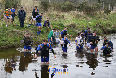 Mar 2007 - Wicklow Senior Football players cool off after training in Shillelagh