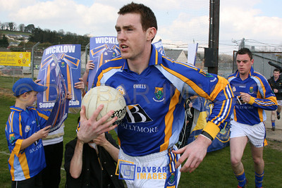 Apr 2007 - Thomas Walsh runs out with Wicklow for the first time