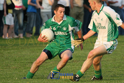 Jun 2007 - John McGrath tries to find a way through the Donard/Glen defence in the Dooley Poynton Senior Football Championship