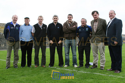 Oct 2006 - New Senior Football Manager Mick O'Dwyer and his backroom team in Aughrim
