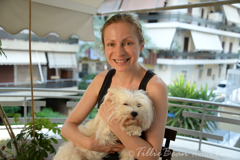 Week 25. Paulina with Oddie the dog in Athens