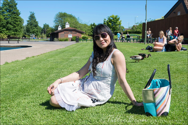 Week 21. Lan enjoying the glorious weather in the park during her lunch break