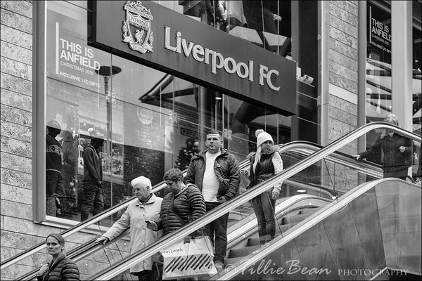 Shopping in Liverpool, UK