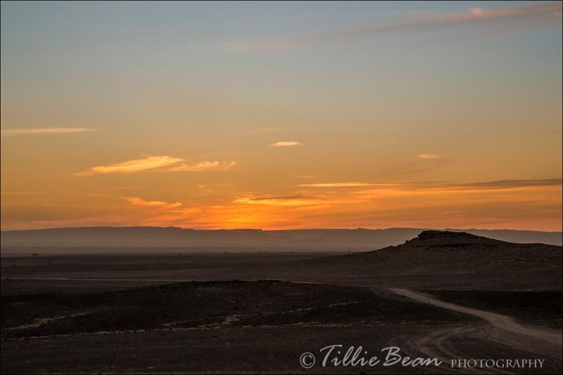 Sunset near Zagora