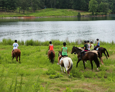 2014, July, Lake Lanier Trail Ride and Swim