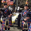 Ken Gilloon, Sophmore Oceanside HS, member of the Wantagh American Legion Pipe Band prepares to step off on 5th Avenue for the 2008 NYC St. Patrick's Day Parade. Photo by Kathy Leistner