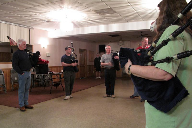 Jack Sullivan, Mike Tarrant, PS John Stone, PM Chris Murphy, and Tara Penny. Last practice in February.