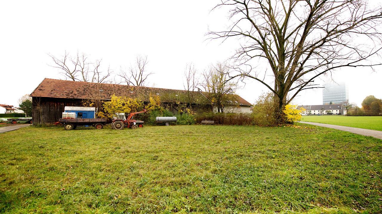 Holzstadel auf dem Gelände des ehemaligen Bauernhofes der Familie Obermayr