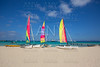 catamaran sailboats in Illetes Formentera beach