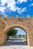 Alcudia Old Town fortres wall in Majorca Mallorca