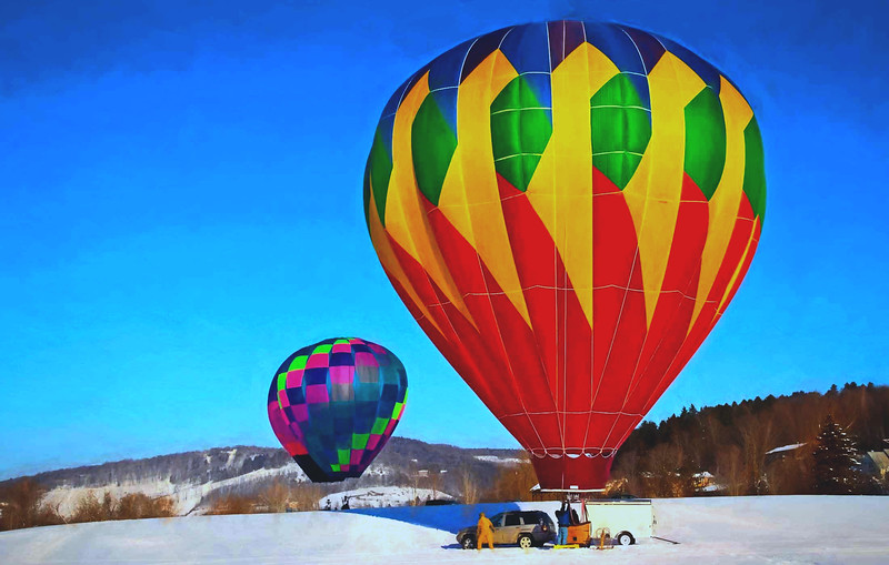 Quechee balloon    winter  VT