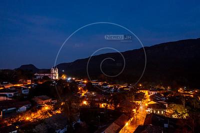 Assunto: Vista aérea noturna de Tiradentes - Minas Gerais                       Local: Tiradentes - MG Data: 05/2021 Autor: Nereu Jr
