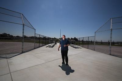 Daniel Glammona, Park Superintendent, at one of the three new baseball/softball diamonds.   Photo by Paul Kuroda