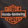 """Her mother had this especially made. It's suppose to be """"Harley"""" instead of Honda-Goldwing."""