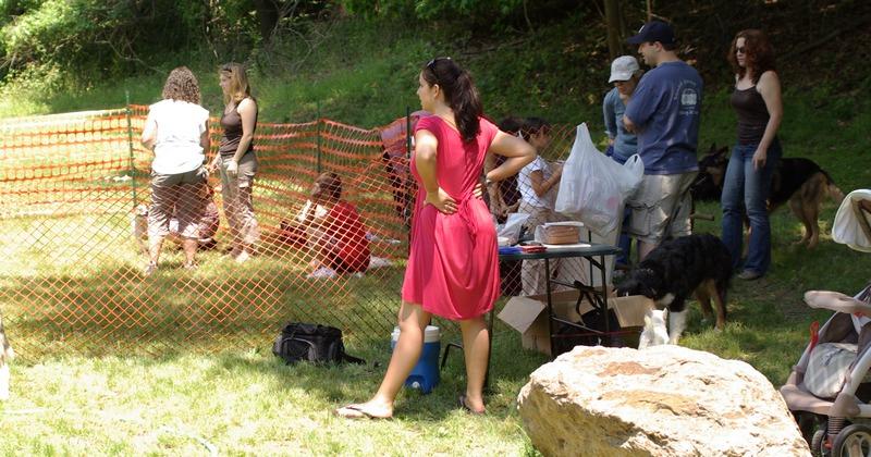 Amanda at hot dogs
