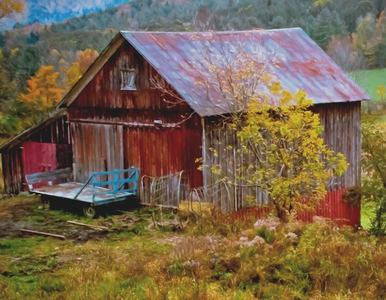 Cloudland drive Barn, Pomfret, Vt #2