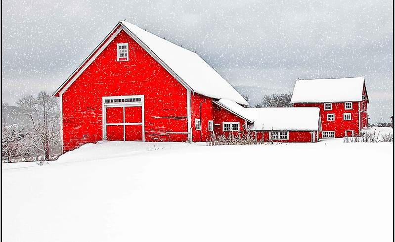 Winter barn Bradford, VT