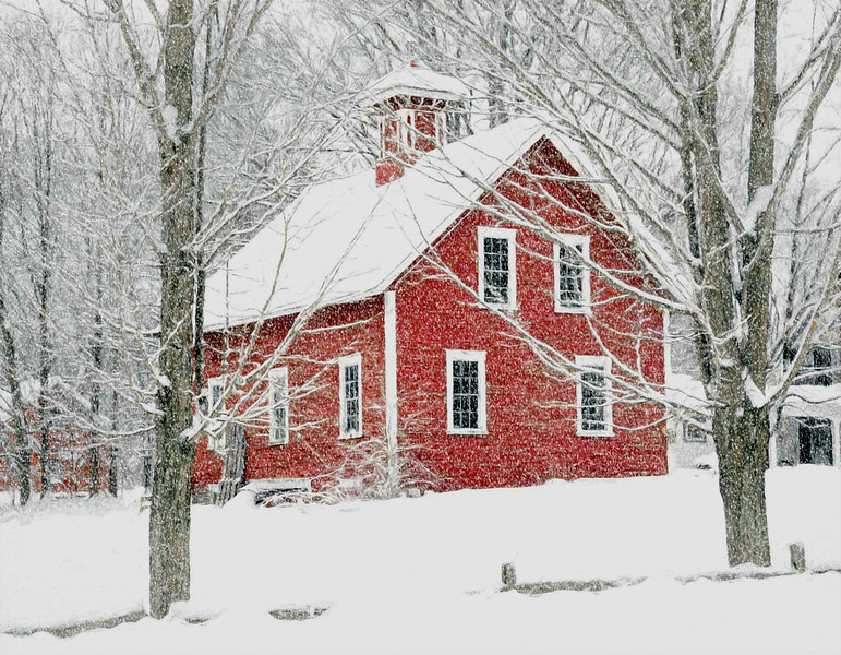 Thetford, VT winter barn