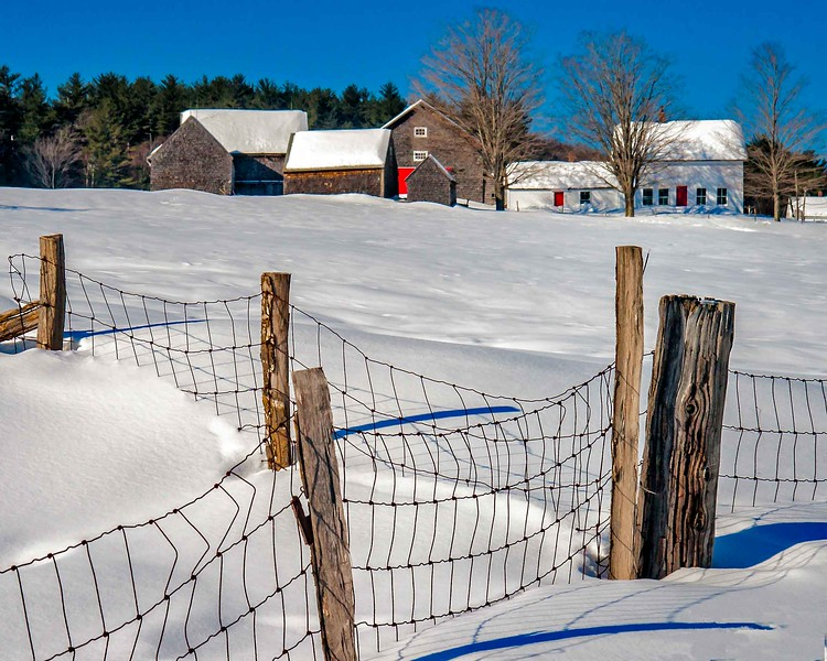 Hersey Farm barns, N.Andover, NH snow fence #3