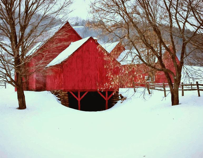 barns on RED BARN ROAD, Quechee , VT #12