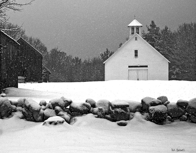 3  barns at Muster field Farm , N.Sutton, NH