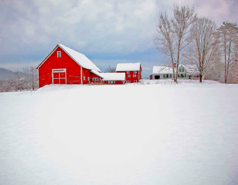 Winter barn Bradford, VT #2
