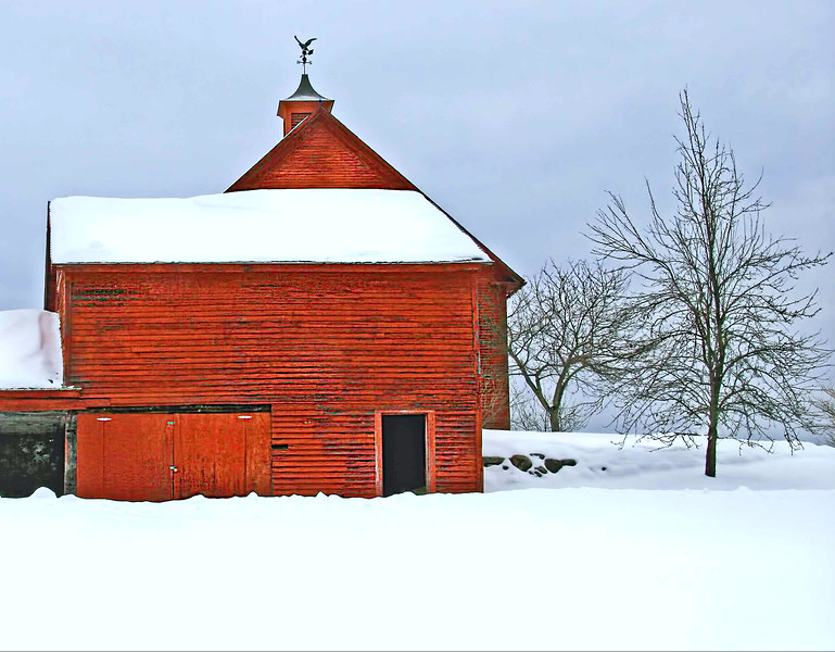 Keene, NH winter barns #2