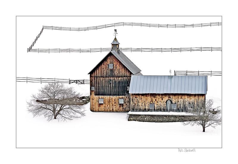 Sleepy Hollow Farm ,Pomfret, VT with snow fence