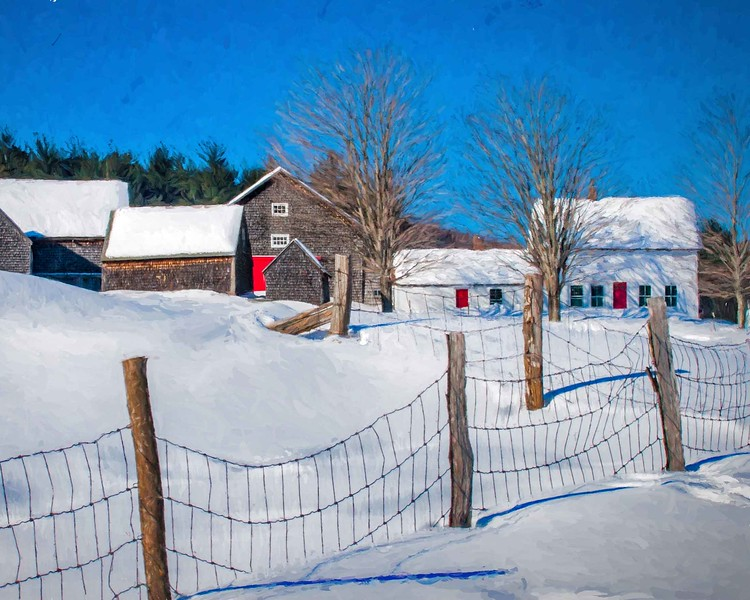 Hersey Farm barns, N.Andover, NH snow fence #2