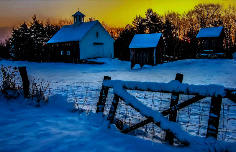 sunrise at Muster field Farm , N.Sutton, NH