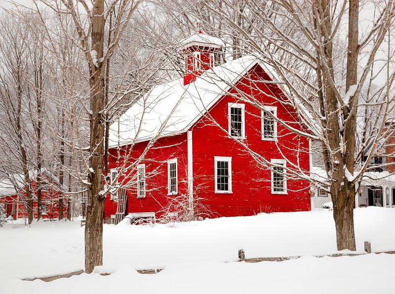 Thetford, VT winter barn #2
