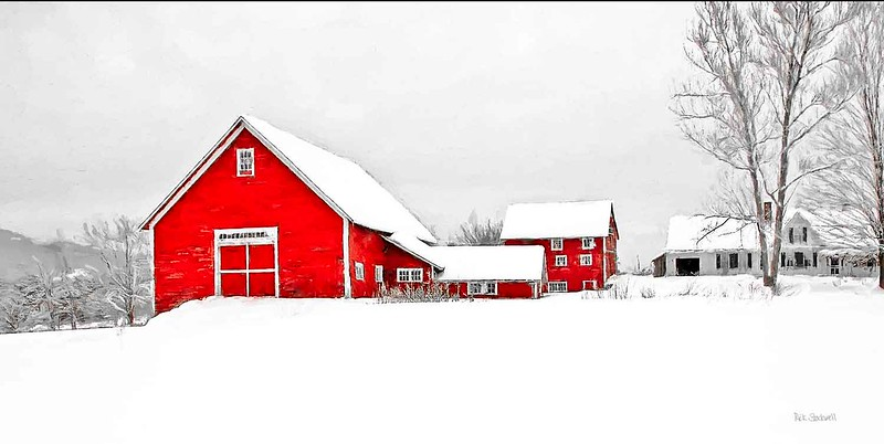 Winter barn Bradford, VT #4