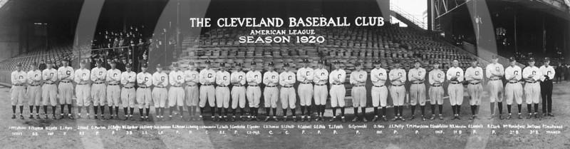 Cleveland Indians Baseball Club, American League, 1920.
