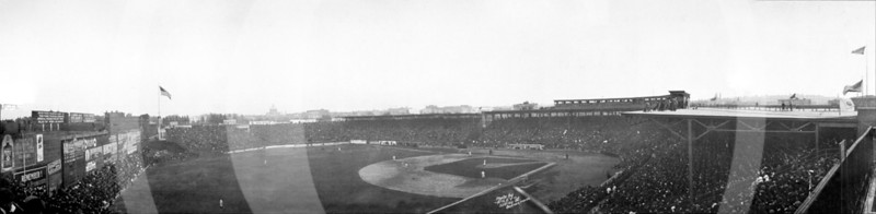 Fenway Park, Boston, Massachusetts. World Series, Boston Braves NL 5 vs Philadelphia Athletics AL 4, 12 Innings. 12 October 1914.